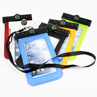 Transparent Touchable waterproof case for samsung Note 4 in retail blister packaging