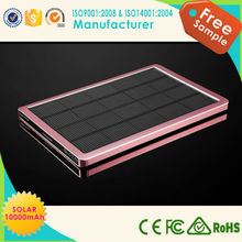 Hot Selling solar battery charger 6000mah mobile power bank battery charger