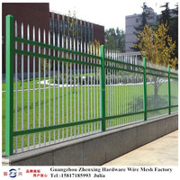 Guangzhou supplier wholesale spear top wrought iron fence ZX-XGHL09