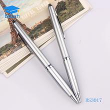 Stationary sliver metal pen custom logo ball pen wholesale ballpoint pen
