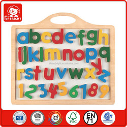 2015 popular EN71 and OEM children learning toys wooden colordul magnetic alphabet for educational decorative alphabet letters