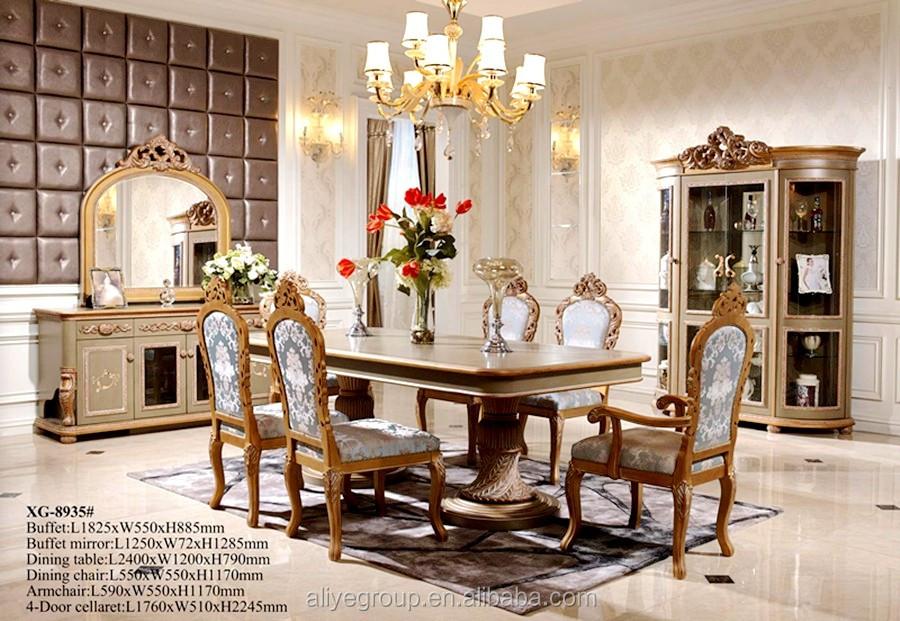 XG-8975-French 스타일 블랙 골드 식당 테이블 세트-세트 식당 -상품 ...