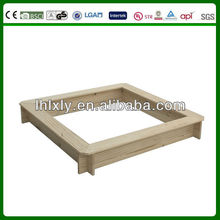 Squre Hard wood sand box for kids in playground