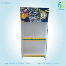 Personalizar papelão expositores de chão supermercado exibição palete