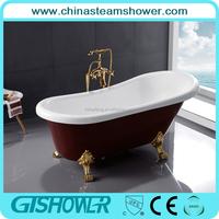 High Quality Cheap Black Acrylic Bathtub with Clawfoot