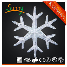 79cm BLUE WHITE LED Twinkling Snowflake Outdoor Ropelight