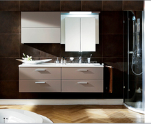 Wall-mounted modern lowes bathroom vanity cabinets