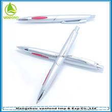 High quality silver plastic roller wonder ball pen