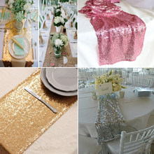 Bright-colored Good Quality Sequin Wedding Rectangle Table Runner