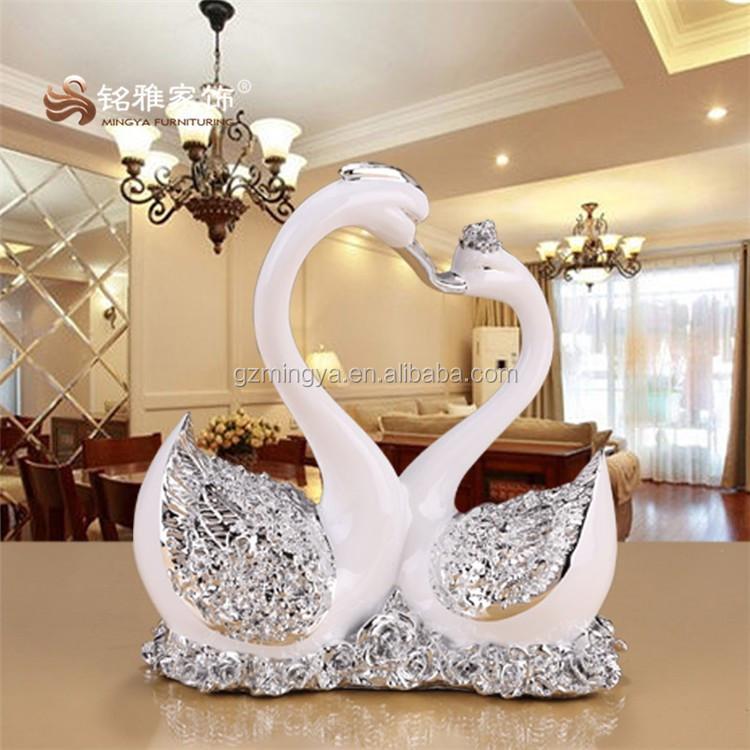 wedding gifts for indian couple polyresina vivid swan animal