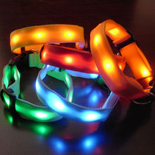 C055 No minimum order nylon led dog collar