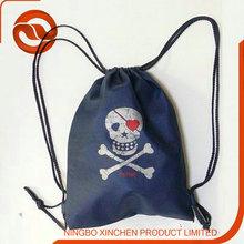 skull nylon/ polyester/pvc Heavy sport Bag for Men & Women Sackpack