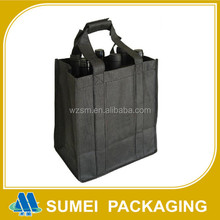 Custom black expandable nonwoven shopping foldable bags with logo printing