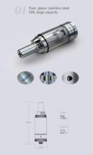 Dual coils big vapor vaporizer pen gg core atomizer newest smoktech gimlet giant Tank