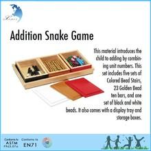مونتيسوري الألعاب التعليمية الدمية الخشبية اضافة لعبة الأفعى مونتيسوري الرياضيات