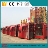 sc200/200 construction elevator, 2*2t double cage sc200 building material hoist