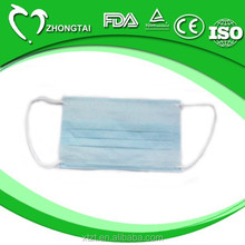 2 layer/ply Disposable face mask with tie on made of nonwoven material,rolls and fabric for medical and surgical use