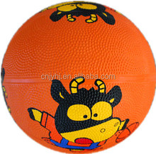 size 2 kids mini rubber basketball colorful