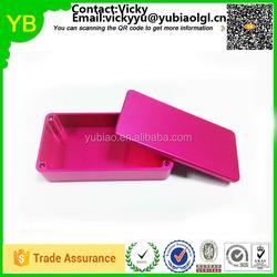 China oem manufacturer colored anodized hammond 1590G/1590A/1590B cnc machining aluminum boxes