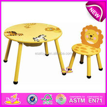 Cheap kids wooden table and chair set,round shape small wooden stool for children,wooden toy small wooden stool for baby W08G003