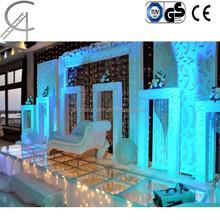 on sale modern wedding plexiglass stages/plexiglass stage fot exhibition/mobile stage