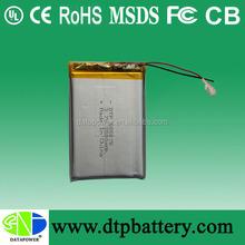 DTP rechargeable li-po battery special batteries 3.7v 2500mah battery UL,CE & EMC testing report