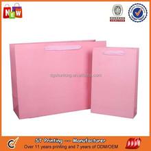Cute pink printed wedding gift paper bag