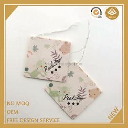 Custom make hanging paper car air freshener/designer fragrance car air freshener for car