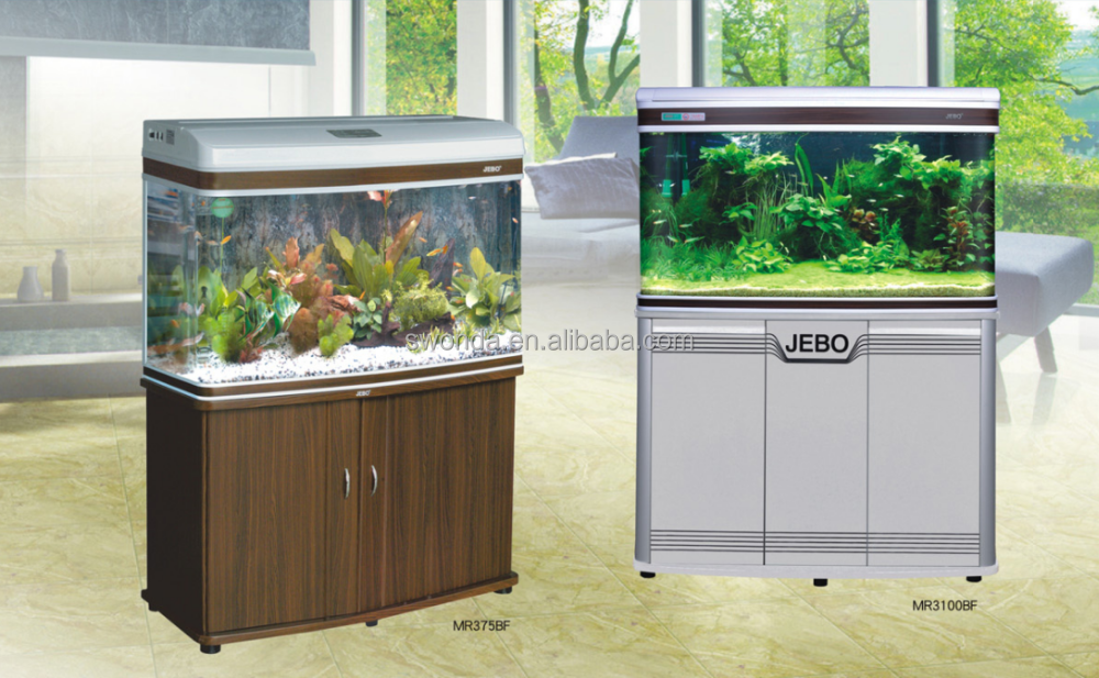Jebo chinese maker acrylic glass big aquarium fish tank for Acrylic vs glass fish tank