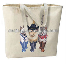 Country Western Cowboy Cats New Large Canvas Tote Bag Beach Shopping Bag