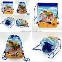 Cartoon Drawstring Backpack School handbag bags for children gifts