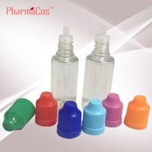 20ml clear E liquid/ E-cigarette/ Vapor/ Smoking oil/Plastic Bottle With Childproof cap