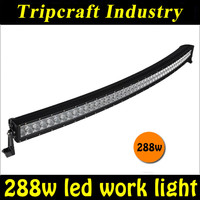 288W curved led offroad light bars for tractor, forklift, off-road, ATV, excavator, heavy duty equipment etc.