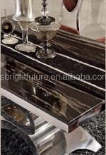 2015 popular furniture black marble dining table in good taste 853
