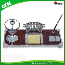 High quality Wooden Desktop Set w/ Mobile Holder Memo Pad Pen