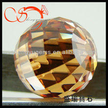 checkerboard cut champagne cz ball