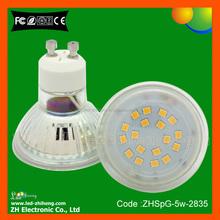 Glass 220V 5w ceiling recessed small gu10 led spot light