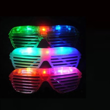 Plastic red blue led Cute Shutters Shape LED Flash Glasses For Dances / Party Supplies Decoration SJ-LG28