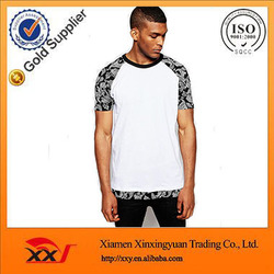 men wear brand name clothing contrast raglan sleeve embroidery designs t shirt singapore t-shirts
