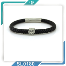 2015Rocking market Silver Fashion bracelet!Genuine Leather handmade braided jewel with lowest MOQ and prompt shipment for you!