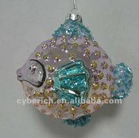 Fashion Hanging hand blown fish Glass Ornaments