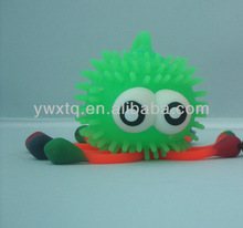 Soft yoyo flashing Octopus Paul ball, air filled beach ball kids animal playing