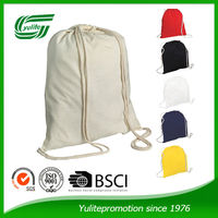 Promotional natural cotton drawstring shoe bags