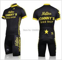 johnnys высокое качество команда 2011 Велоспорт Джерси короткий рукав + нагрудник шорты лето Велоспорт Открытый спортивной одежды