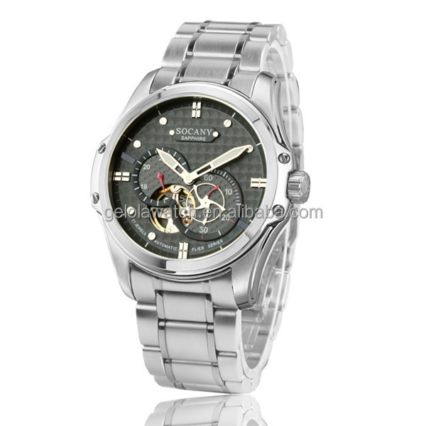 Stainless Steel Back Men Watch Vogue Watch, Custom Watch for Men, Automatic Stainless Steel Watch Water Resistant