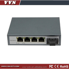 4 ports poe home and office use poe ip camera switch with 5 port network