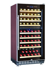 Red colour 59-67bottles Dual- zone SRW-68D wine furniture
