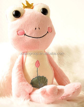 Customized Pink Frog Plush for Girls