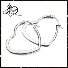 Women's Stainless Steel Stud Hoop huggie Earrings Silver Heart Round Unique Polished