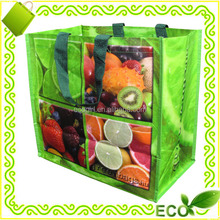 promotional eco shopping tote handled beach grocery easy carry resuable laminated pp woven bag